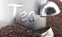 Teeaufbewahrung mit Etiketten