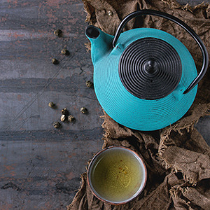 Teekanne ohne Tropfenfänger