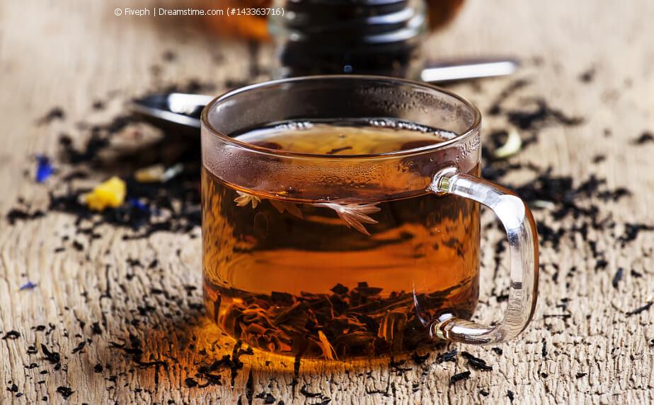 Ceylon Tee in einer Glastasse