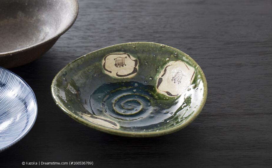 Japanische Teeschale - Oribe