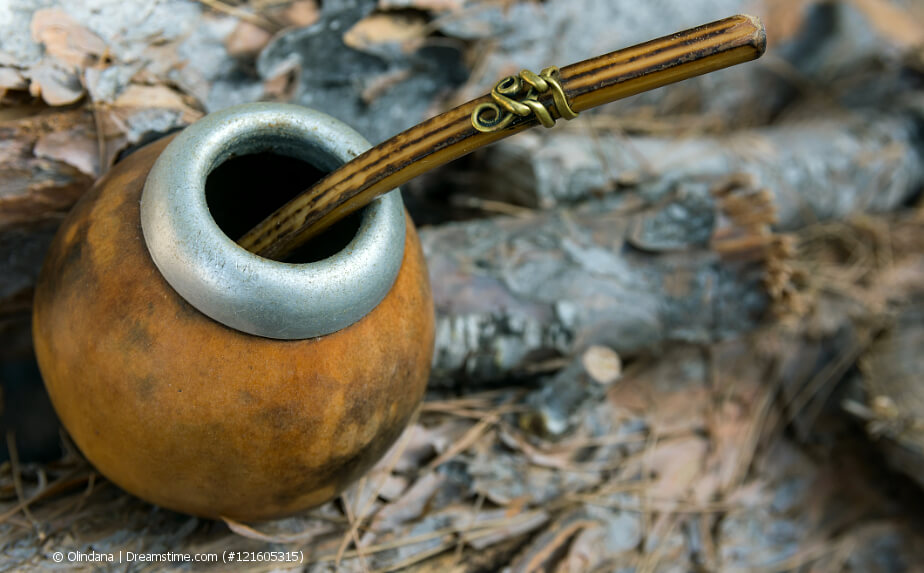 Kalebasse für Mate Tee