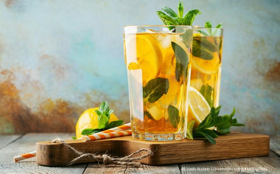 Tee-Rezepte - Eistee mit Zitrone