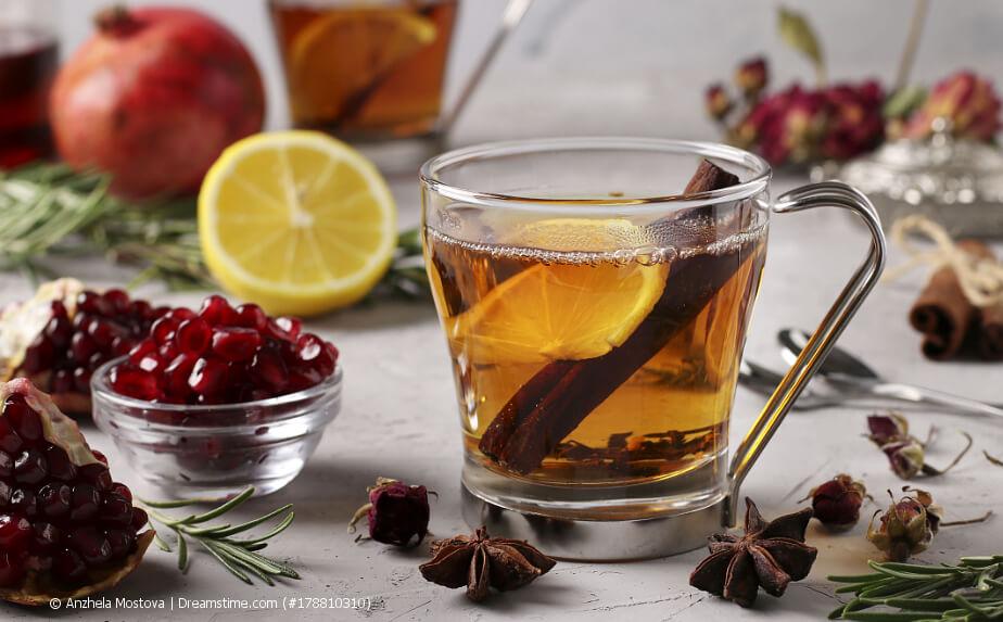 Wellness-Tee im Glas
